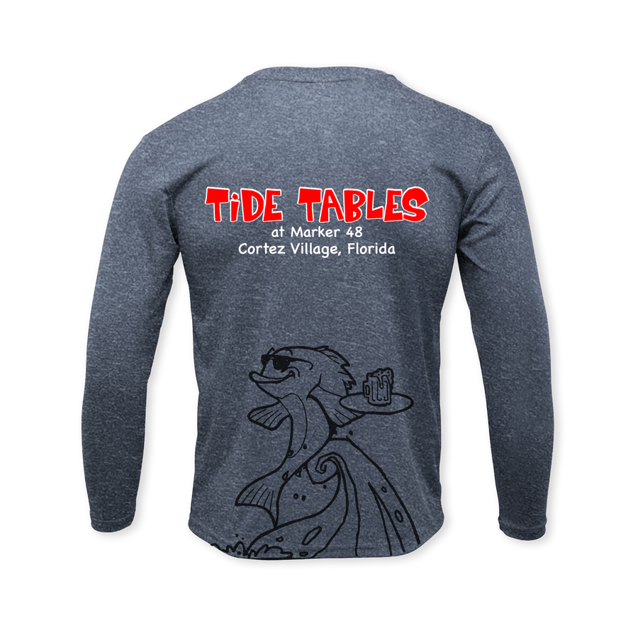 Tide Tables Performance Heather Long Sleeve T-Shirt