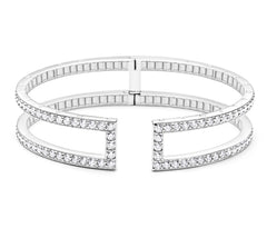 RECTANGULAR PINPOINT DIAMOND CUFF