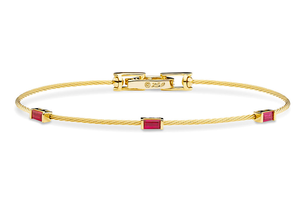 UNITY WIRE BRACELET WITH BAGUETTE RUBIES