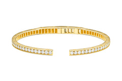 RECTANGULAR PINPOINT DIAMOND BANGLE