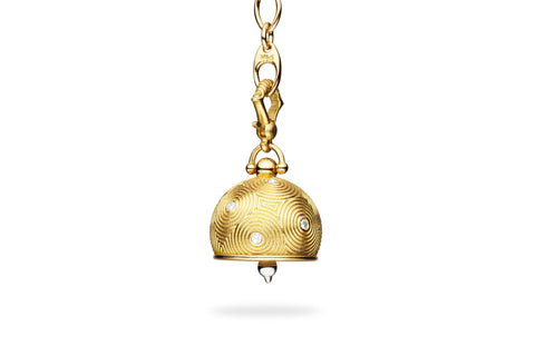 DROPLET MEDITATION BELL WITH DIAMONDS