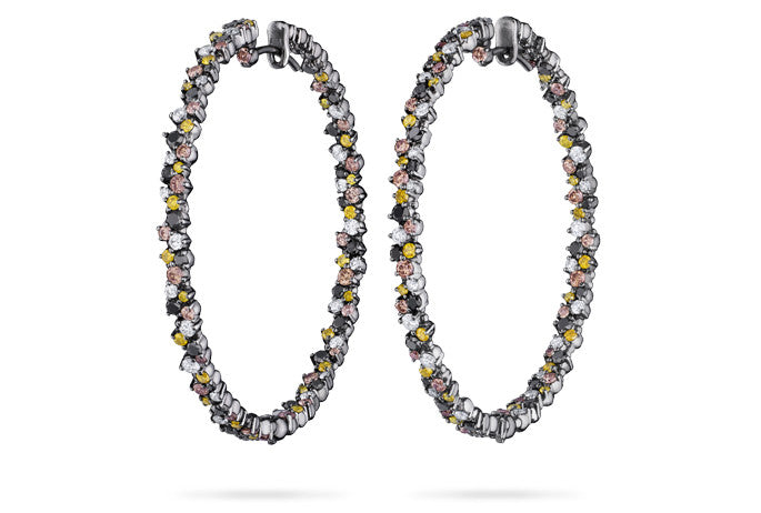 CONFETTI HOOP EARRINGS LARGE