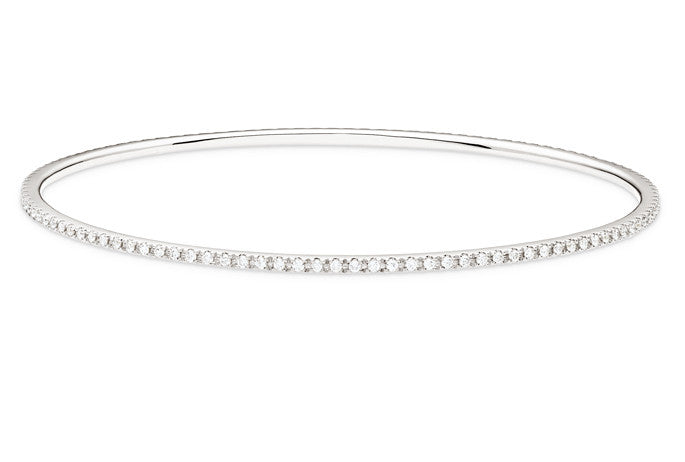 PINPOINT DIAMOND BANGLE BRACELET