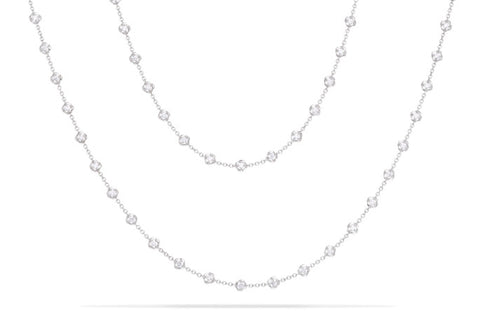 MINI ROUND STONE CHAIN NECKLACE