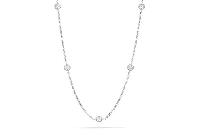 ROUND STONE CHAIN NECKLACE