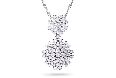 MIXED DIAMOND CLUSTER PENDANT