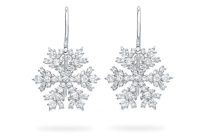 SINGLE SNOWFALL EARRINGS