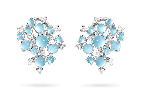 SMALL BUBBLE CLUSTER CLIP EARRINGS