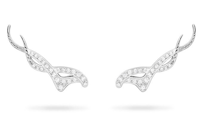 DIAMOND NOUVEAU TRELLIS EARRINGS