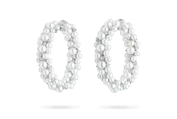 LAGRANGE PEARL HOOP EARRINGS