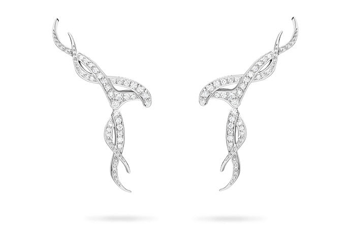 DIAMOND NOUVEAU TRELLIS DROP EARRINGS