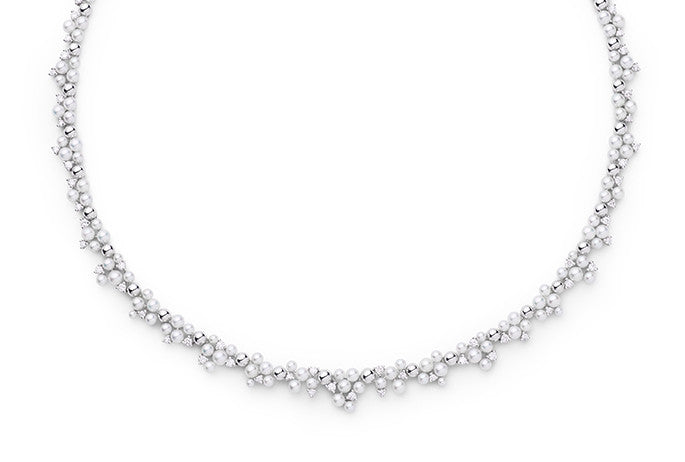 LAGRANGE PEARL & DIAMOND NECKLACE