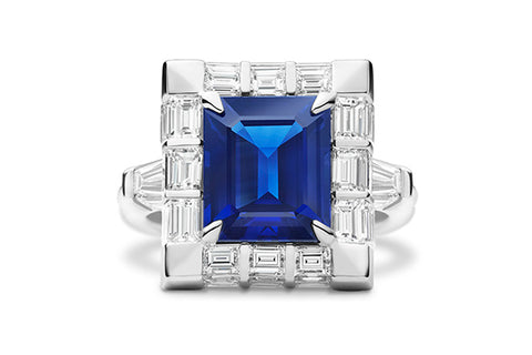 MODERN SAPPHIRE RECTANGLE RING