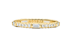 PINPOINT BAGUETTE DIAMOND ETERNITY RING