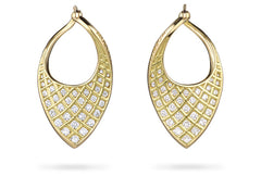 SPIRAL MESH TWIST HOOP EARRINGS