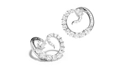 TRACEUR SPIRAL HOOP EARRINGS