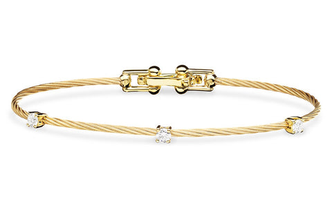 SINGLE UNITY BRACELET WITH 3 DIAMONDS
