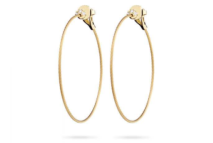 UNITY THIN HOOP EARRINGS MEDIUM
