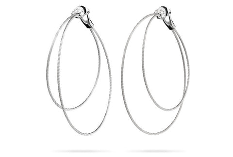 DOUBLE UNITY HOOP EARRINGS