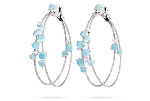 DOUBLE UNITY BUBBLE HOOP EARRINGS