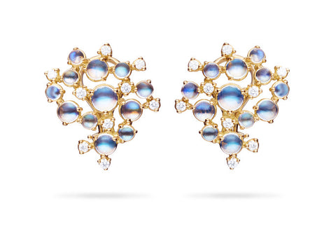 BUBBLE CLUSTER CLIP EARRINGS