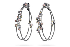 DOUBLE UNITY CONFETTI HOOP EARRINGS