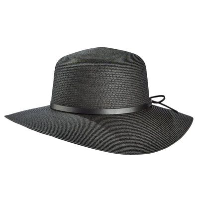 Tilley TOY1 Audrey Straw Sun Hat in Black