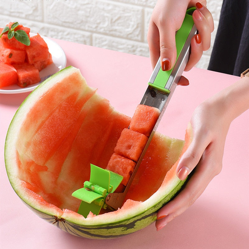 Stainless Steel Windmill Watermelon Slicer