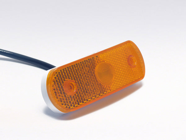 LED position light curved orange