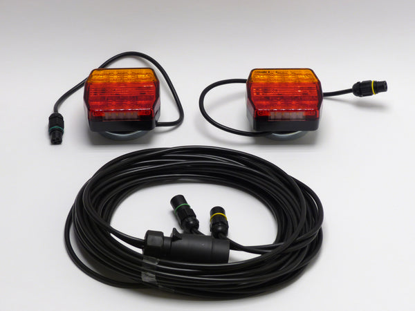 LED trailer lighting set magnetic including lights BBS16