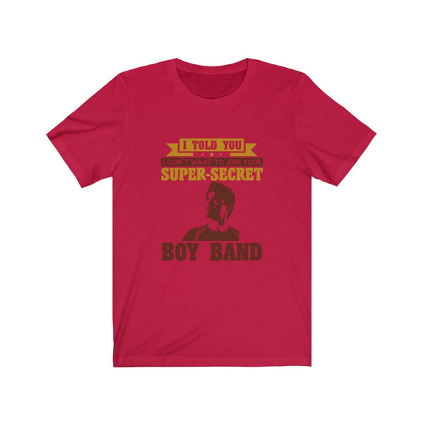 Iron Man Super Secret Boy Band - Short Sleeve T-Shirt