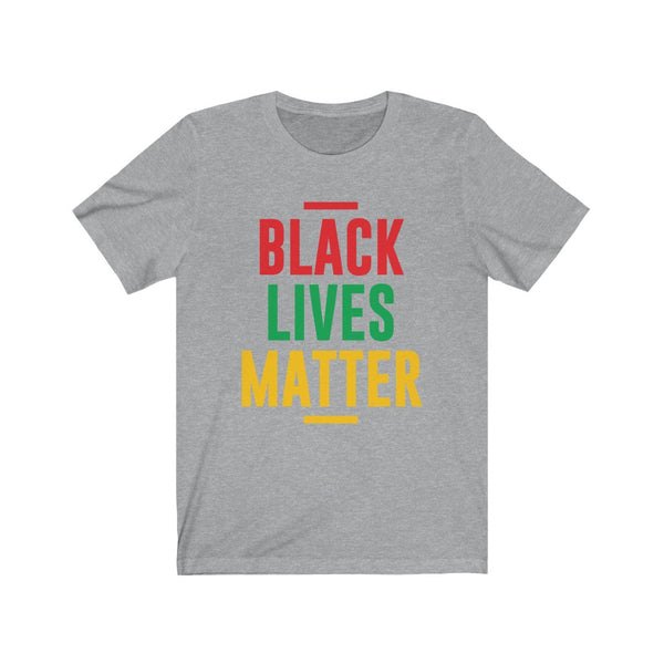 Black Lives Matter Red Green and Yellow - Short Sleeve T-Shirt