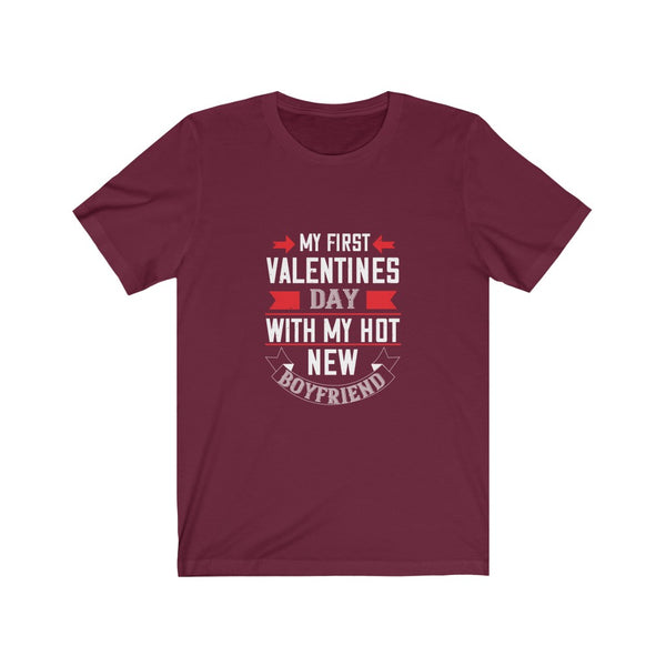 My First Valentine's Day - Short Sleeve T-Shirt