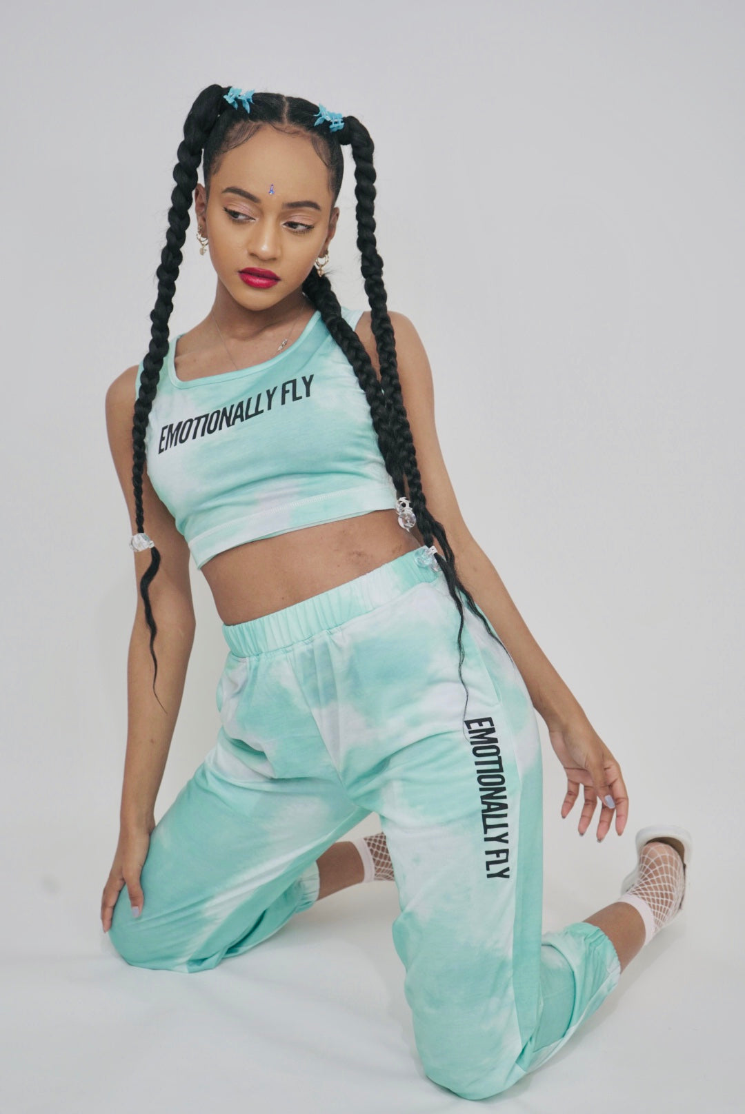 Teal Lounge Set Joggers
