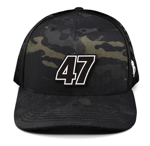 Multicam/Black No. 47 Curved Trucker Hat