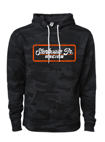 Distressed Patch Camo Hoodie