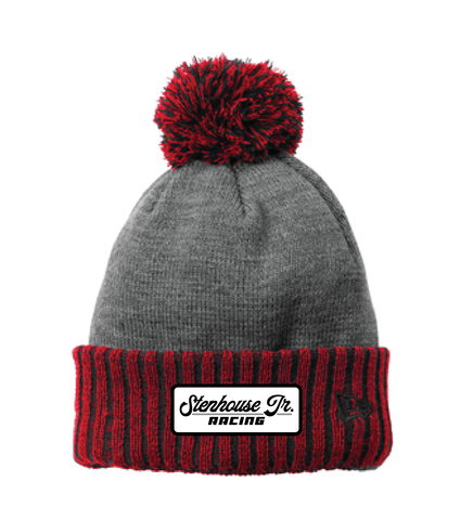 SJR Scarlet/Grey Fleece-Lined Beanie