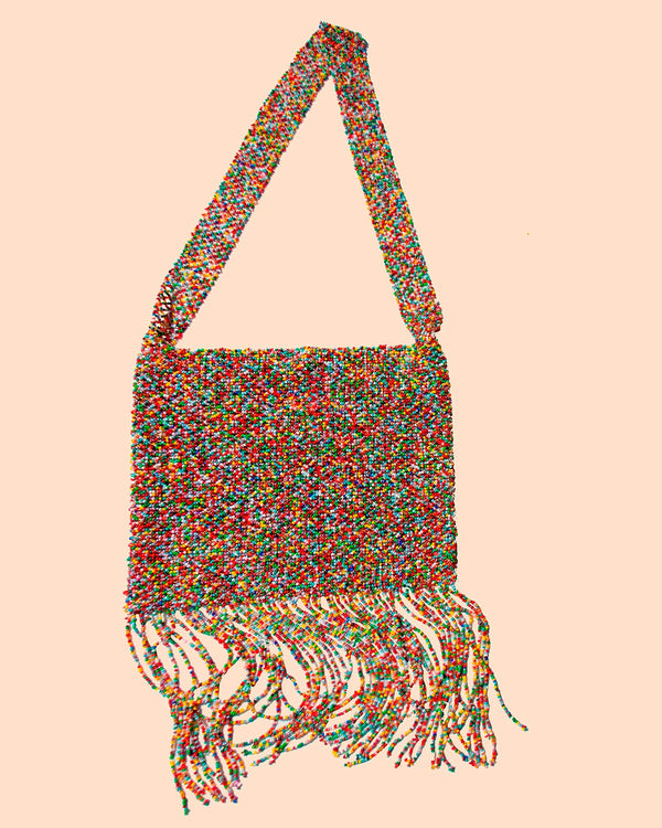 A product picture of the Marmaclub Crossover Fringe bag in color Multicolor (mix of many colors)