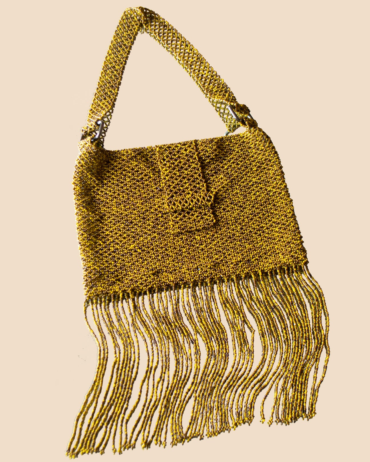 Flap Fringe Bag Snakeskin