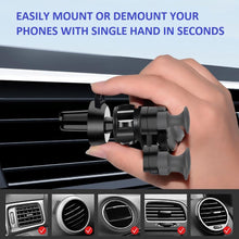 Load image into Gallery viewer, UNIVERSAL GRAVITY CAR PHONE HOLDER-Universal Car Phone Holder Aircond Grille Mounted-Blue For Round AC Grille-COOL FUN TECH