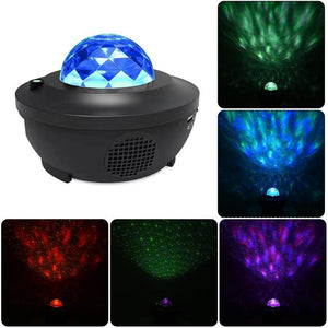 LED Music Starry Sky Projection Light-Starry Sky Projection Bluetooth Speaker-Black-COOL FUN TECH