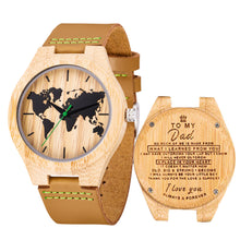 Load image into Gallery viewer, Bamboo wooden watch with Customized Photo-Customized Wood Watch-Bamboo belt-COOL FUN TECH