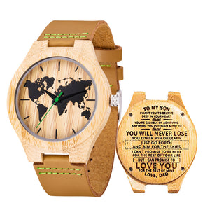 Bamboo wooden watch with Customized Photo-Customized Wood Watch-Bamboo belt-COOL FUN TECH