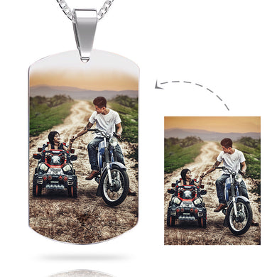 Custom Color Photo Necklace-Custom Photo Necklace-Steel-22x39cm-One side-COOL FUN TECH