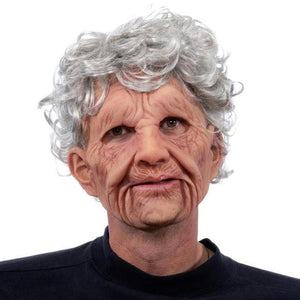 Halloween Costumes Creepy Old Man Woman Skin Mask-Special Effect Costumes-Grandma-COOL FUN TECH