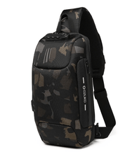 Load image into Gallery viewer, Multifunctional Anti-Theft Waterproof Shoulder Bag Chest Bag with USB Port-Anti-theft Multi-purpose Backpack-Camouflage-COOL FUN TECH