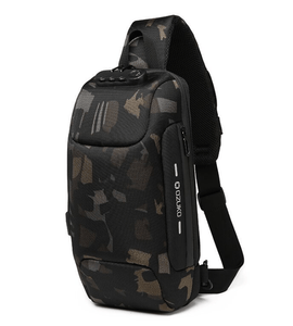 Multifunctional Anti-Theft Waterproof Shoulder Bag Chest Bag with USB Port-Anti-theft Multi-purpose Backpack-Camouflage-COOL FUN TECH