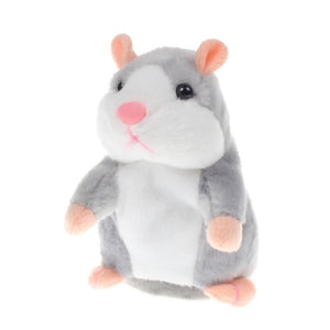 Talking Hamster Plush Toys-Talking Hamster Toy-Gray 18cm-1-COOL FUN TECH