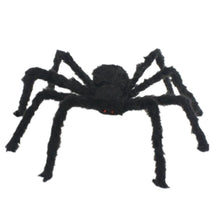 Load image into Gallery viewer, Halloween Decoration Giant Spider Plush Toy & Spider Web-Halloween Spider Decorations-Black spider-60cm-COOL FUN TECH