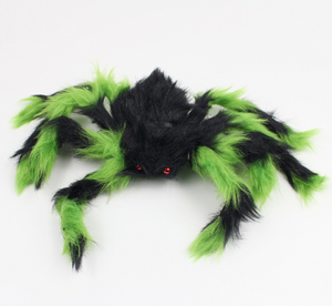 Halloween Decoration Giant Spider Plush Toy & Spider Web-Halloween Spider Decorations-Green spider-30cm-COOL FUN TECH